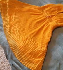 Žuta ljetna haljina, h&m