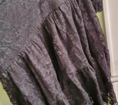 Crna cipkasta haljina 36