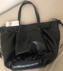 %%% Zara crna torba velika