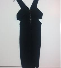 Crna asimetrična haljina