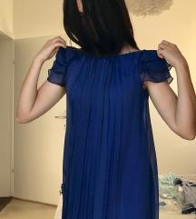 %%NEBO plava haljina od svile%%