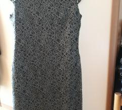Sniženo Zelena čipkasta haljina S'Oliver