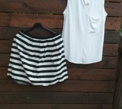 Dorothy Perkins suknja + bijela bluza+ ESPADRILE