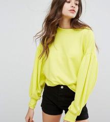 AKCIJA: Bershka neon žuti zeleni sweater