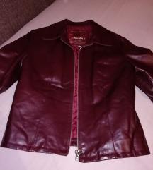 Bordo kozna jakna