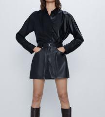 Nova Zara kozna suknja s etiketom