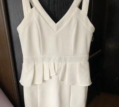 Amisu bijela peplum haljina