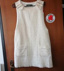 Zara bijela haljina za preko majice