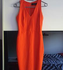 Narančasta uska haljina