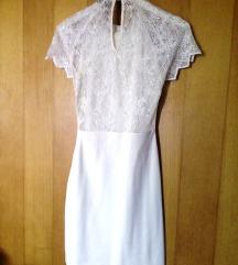 Zara haljina s čipkastim leđima