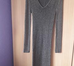 Siva haljina ispod koljena