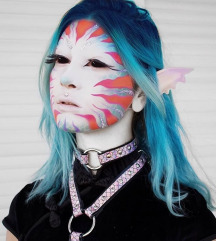 Kožni mermaid holo choker
