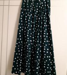 ASOS tamno zelena suknja sa točkicama