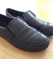 MANFIELD crne kožne tenisice