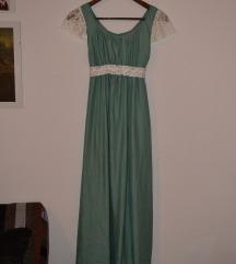 Svečana haljina mint boje