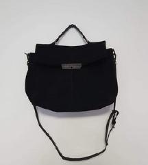 Nova Replay crna torba- brušena koža