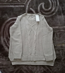 Kvalitetan ženski bež pulover s. Oliver brL - XL