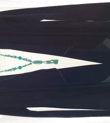 Tamno plavi kardigan, majica i ogrlica