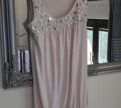 Puder roza haljina sa kristalim%