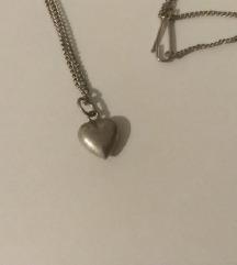 Srebrni lančić srce (925/1000)