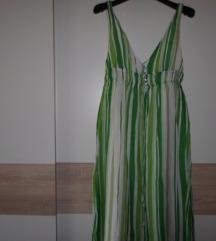 ZARA prugasta haljina od svile vel.S