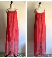 Duga floral svilena haljina