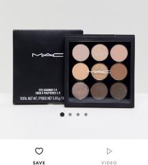 Mac amber x9 paleta i makeup geek paleta