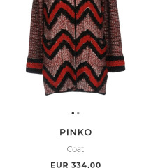 Pinko, pleteni kaputic/kardigan sa lame nitima
