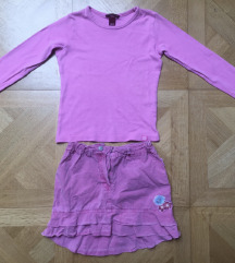 Dječja H&M majica + suknja