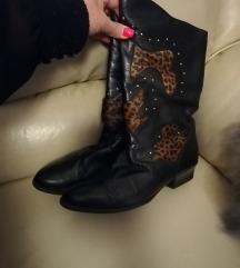 Crne kozne cizme 41