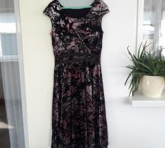 NOVO Diadema duža ljubičasto roza haljina