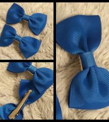 Plave ukosnice mašne za djevojčice