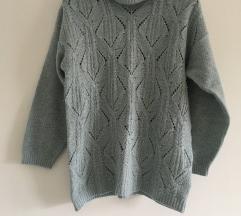 Sivo plavi džemper vel M/L