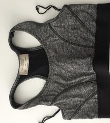 Zara sivi sportski grudnjak