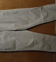 Zara zelene hlače chino 38