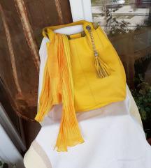 Neon žuta kožna torba&marama gratis