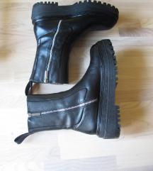 % ZARA kožne čizme / gležnjače br. 37
